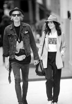 Jamie Campbell Bower and Lily Collins ♡