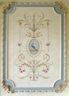 Wall stencil Marie-Antoinette Grand Panel LG amazing detail