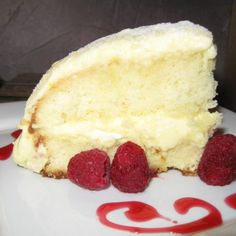 I've been searching for a recipe like this ever since I had it at Monkey Cat Restaurant in Auburn, CA.  Limoncello Crème Cake: