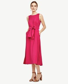 Belted Midi Dress | Ann Taylor
