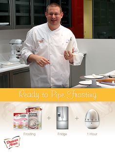Ready to pipe frosting... For best results refrigerate your #DuncanHines frosting for 1 hour before piping on cupcakes
