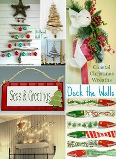 coastal Christmas wall decorations