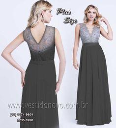 8036cd572 Este modelos em estoque é PLUS SIZE, vestidos preto de renda no busto tamanho  grande