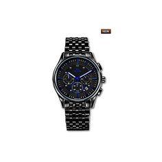 Cronografo Orologio Polso Uomo Nero Wilver Vetta Privilege VW0136