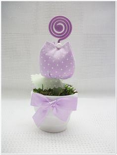 Mini vaso com tulipinha e porta recado | Denise Bierende | Elo7