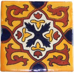 "10 Mexican Hand Painted Talavera Tiles 4"" X 4""More Pins Like This At FOSTERGINGER @ Pinterest"