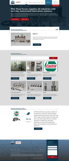Commercial Progression is proud to launch this new Drupal powered manufacturing website for P&G fluid power.