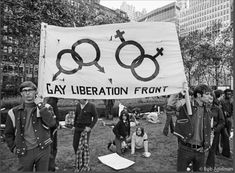 Protesters at a demonstration against the Vietnam War held at Columbia University called The Moratorium in 1969. The Gay Liberation Front grew out of the Stonewall incidents that same year.  Photo credit: Bob Adelman