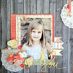 #papercrafting #scrapbook #layout - My Minds Eye Miss Caroline. Posted by Maxadriane @ WeScrap.com