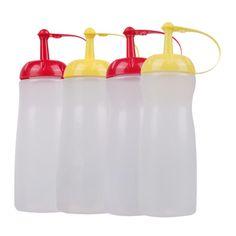 Leakproof Sauce Dispenser Squeeze Oiler Ketchup Bottle Plastic Cruet Cooking Tools Gravy Boat Olive Oil Bottle