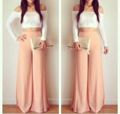 Crop top and maxi pants Source by sakshitorka outfits ombliguera Look Fashion, Spring Fashion, Fashion Outfits, Womens Fashion, Fashion Killa, Crop Top Outfits, Cute Outfits, What To Wear Today, How To Wear