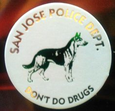 German Shepherd K9 pog from San Jose Police Dept.