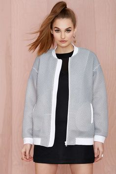 Cameo Tribute Textured Bomber Jacket | Shop Jackets + Coats at Nasty Gal #streetstyle