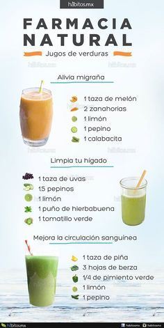 Hábitos Health Coaching | 3 deliciosos jugos que en verdad son FARMACIA NATURAL!!