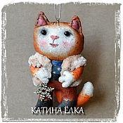 Подарки к праздникам ручной работы. Ярмарка Мастеров - ручная работа Кот и снежинка. Handmade.