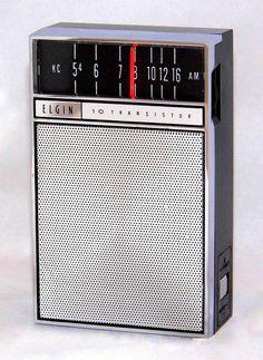 https://flic.kr/p/QxGxqX | Vintage Elgin Transistor Radio, Model R800, AM Band Only, 10 Transistors, Made In Japan, Circa 1964