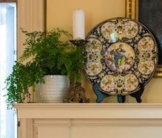 mantel styling. Mantles, Fireplace Mantels, Fireplaces, Summer Mantel, Mantle Ideas, Decorating Ideas, Decor Ideas, Cute House, Fireplace Design