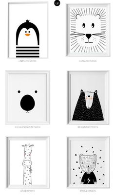 Black and white kids art from Etsy Schwarzweiss-Kinderkunst von Etsy Little flea interiors // kids homewear Nursery Room, Boy Room, Kids Bedroom, Nursery Decor, Nursery Artwork, Baby Bedroom, Bedroom Decor, Nursery Prints, Baby Artwork