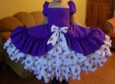 Vestido de China, huasa chilena! Girls Dresses, Summer Dresses, Sewing Projects For Kids, Beautiful Dresses, Vintage Outfits, Crochet, Floral, Dress Girl, Nostalgia