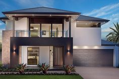 Palatial Accommodation and Premier Living with A Touch of Tranquillity Modern House Facades, Modern Bungalow House, Modern Architecture House, Modern House Plans, Two Story House Design, House Front Design, Modern House Design, Home Building Design, Villa