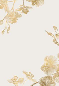 Orchid Wedding Invitations, Free Wedding Invitation Templates, Wedding Invitation Background, Gold Wedding Invitations, Floral Invitation, Phone Wallpaper Design, Flower Phone Wallpaper, Gold Wallpaper Background, Wallpaper Backgrounds