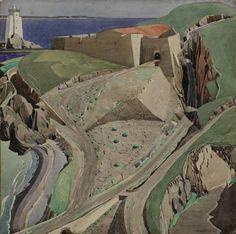 Чарльз Рени Макинтош. Charles Rennie Mackintosh. Акварель. The Fort, 1925