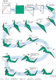 Dragon Origami, Origami Guide, Fun Crafts, Paper Crafts, Hipster Drawings, Origami Animals, Origami Design, Origami Stars, Origami Tutorial