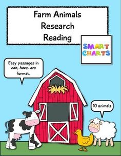 Farm Animals Research Reading this might work for low readers to do research for their nonfiction books
