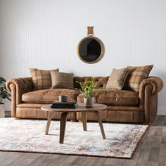 franklin leather grand sofa by i love living