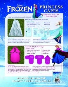 Frozen Elsa DIY princess cape