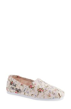TOMS 'Seasonal Classic - La Vie est Belle' Slip-On (Women)