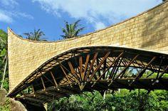 millenium bridge' by PT bamboo pure, bali, indonesia Millenium, Millennium Bridge, Arch Bridge, Pedestrian Bridge, Green School Bali, Bamboo Art, Bamboo Poles, Green Facade, Bamboo Structure