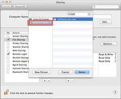 Share Files On Mac OS X Without Creating A New User Account By Using Apple ID's