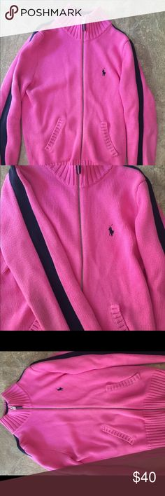 Ralph Lauren Polo Pink Sweater Ralph Lauren Polo sweater, used, great condition. Great sweater for colder weather, thick and warm material! Polo by Ralph Lauren Sweaters
