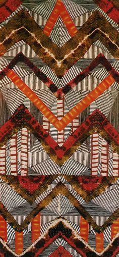 Lisa Matthias combined several techniques to create this amazing fabric: stencil, batik, applique and plangi.
