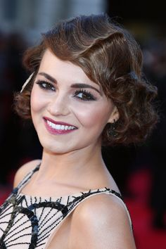 Kara Tointon. Adorable finger wave and lovely makeup!