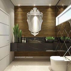 Maiss um filho no mundo!! 😍🙏🏼 Quem acompanhou no Snap hoje as dicas pra renderizar Banheiro? 😱😁😍 cooorram lá! 👻 Snap: Decoremais ❤️ e os blocos de espelhos desse banheiro estão na minha Fan Page! 😉