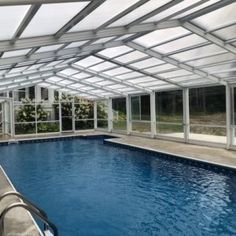 Maine Pool Enclosure Manufactured By Roll A Cover Intl Pool Enclosures Residential Pool Pool