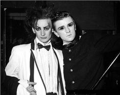 1979 Boy George and Steve Strange at Blitz Club London