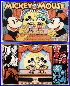 Vintage 1970's Walt Disney MICKEY MOUSE PUPPETFORMS COLORFORMS Theater