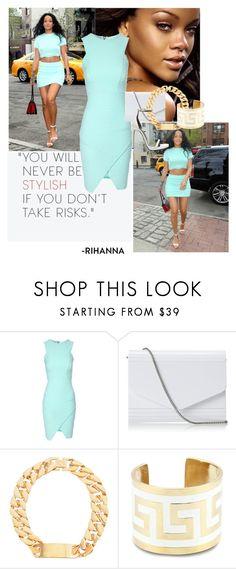 """""""rihanna"""" by maemonroe55 ❤ liked on Polyvore featuring Jane Norman, Nina, Lisa Stewart and Yves Saint Laurent"""
