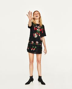 ZARA - WOMAN - EMBROIDERED SHORT DRESS