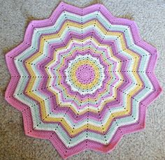 plus 3 crochet: baby girl round ripple