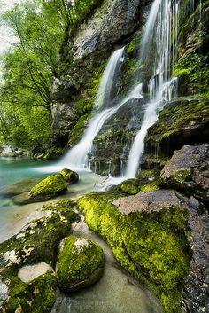 Virje Waterfall, Triglav National park, Slovenian Alps ✯ ωнιмѕу ѕαη∂у Beautiful Waterfalls, Beautiful Landscapes, Life Is Beautiful, Beautiful Images, Best Photographers, Landscape Photos, Amazing Nature, Water Features, Scenery