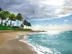 Пляж и море GIF анимация подборка