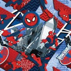 Camelot Cottons House Designer - Ultimate Spiderman II - Urban Hero in Multi