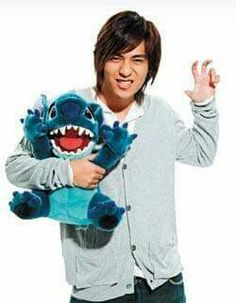 With stich doll