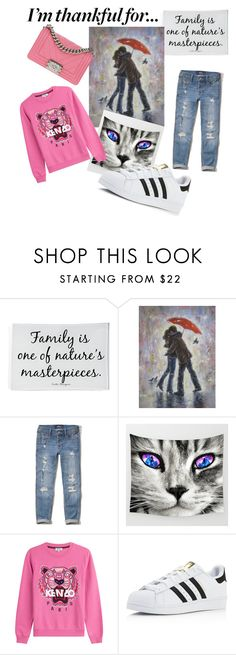 """""""Untitled #39"""" by supysu ❤ liked on Polyvore featuring Ben's Garden, Hollister Co., Kenzo, adidas, Chanel and imthankfulfor"""