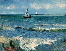 The Sea at Les Saintes-Maries-de-la-Mer, 1888; Location: Van Gogh Museum, Amsterdam