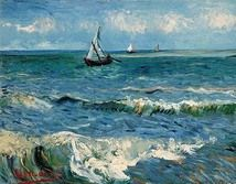The Sea at Les Saintes-Maries-de-la-Mer, 1888; Location: Van Gogh Museum, Amsterdam